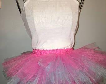 Girls spring 4 layer pink & blue TUTU