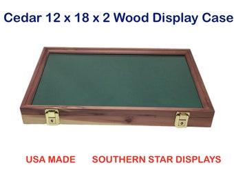 12x24x2  ARROWHEAD DISPLAY CASE LOCKING WALL MOUNTED