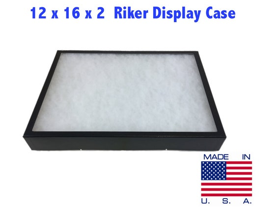 14 x 20 x 3//4 Riker Display Case Box for Collectibles Jewelry Arrowheads