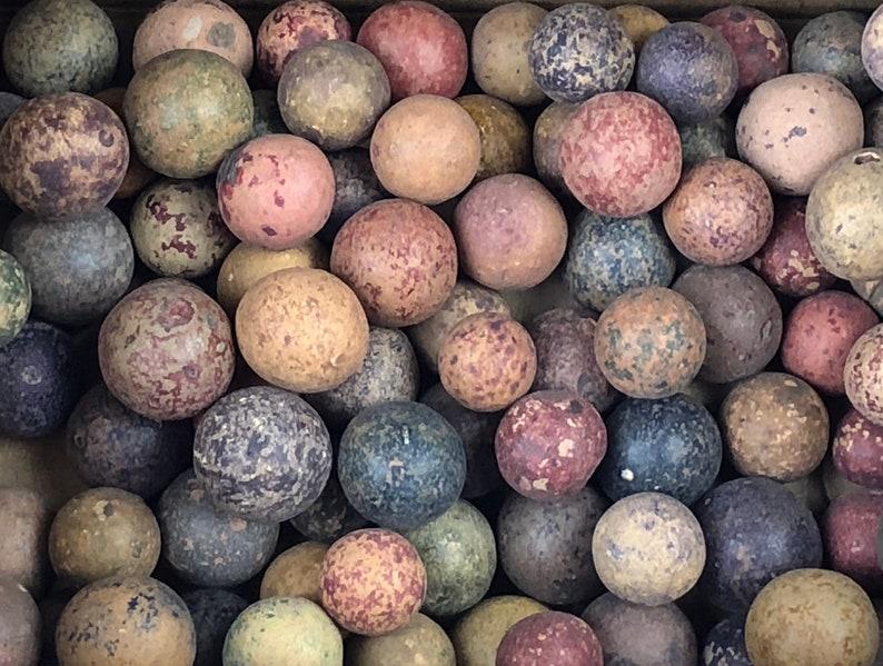 Revolutionary War Era Clay Marbles found near Yorktown, VA Lot of 5 with COA