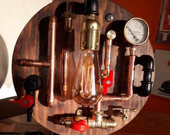Steampunk style lamp
