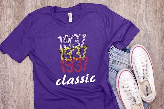 1937 anniversaire anniversaire 1937 chemise Vintage année classique anniversaire né T Shirt 81e anniversaire cadeau unisexe T Shirt 7 couleurs à choisir de 354f94
