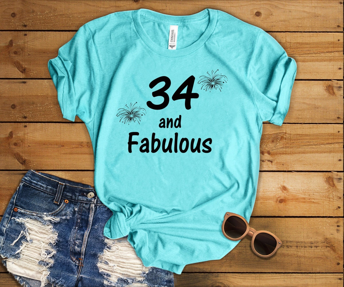 34 anniversaire Shirt unisexe âge 34e anniversaire Shirt 34e âge anniversaire T Shirt l'âge et fabuleux anniversaire drôle T Shirt né en 1984 cadeau d'anniversaire 8b2053