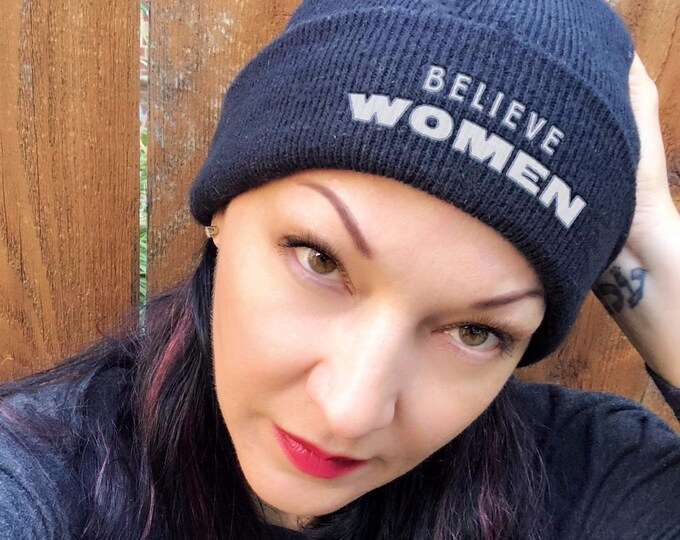 Featured listing image: Believe Women Embroidered Cuffed Beanie - End The Backlog