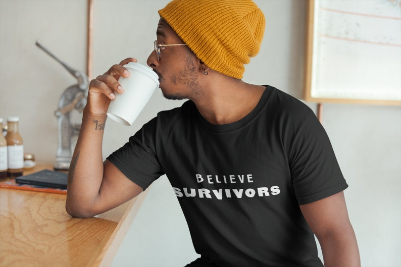 a768d199 Believe Survivors Mens Fitted Short Sleeve T-Shirt End The | Etsy
