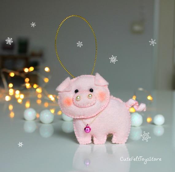 Schwein Christbaumkugel Schweinchen Ornament Filz Etsy