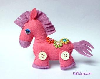 Cute felt horse