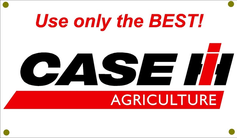 Case IH Agriculture Use Only The Best garage man cave banner