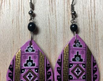 Sueños Rosados | Hand-painted Artisan Earrings