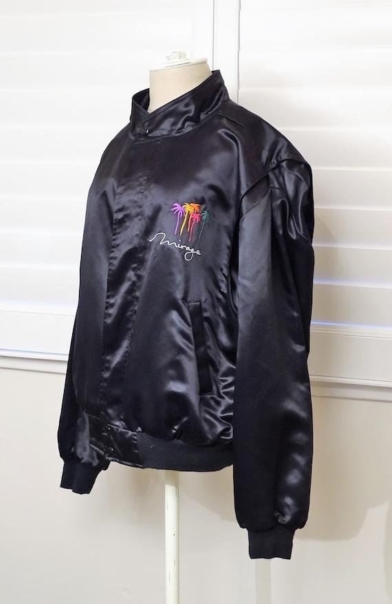 Mirage black satin jacket