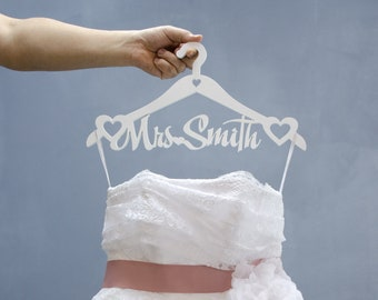 Wedding Dress Hanger Bridal Hanger Mrs Wedding Hanger Etsy