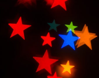 Multicoloured stars * digital download * photography