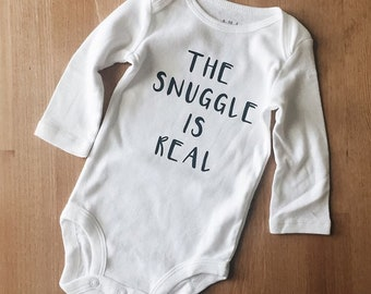 8a560d0ac The snuggle is real onesie | Etsy