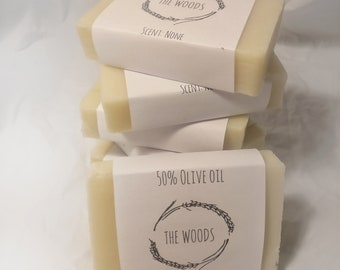 50% olive oil handmade soap bar - cold process, all natural, gentle