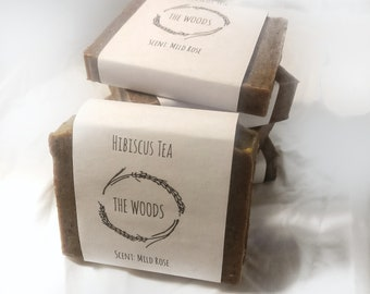 Hibiscus and Rose(very mild scent) Handmade Natural Soap