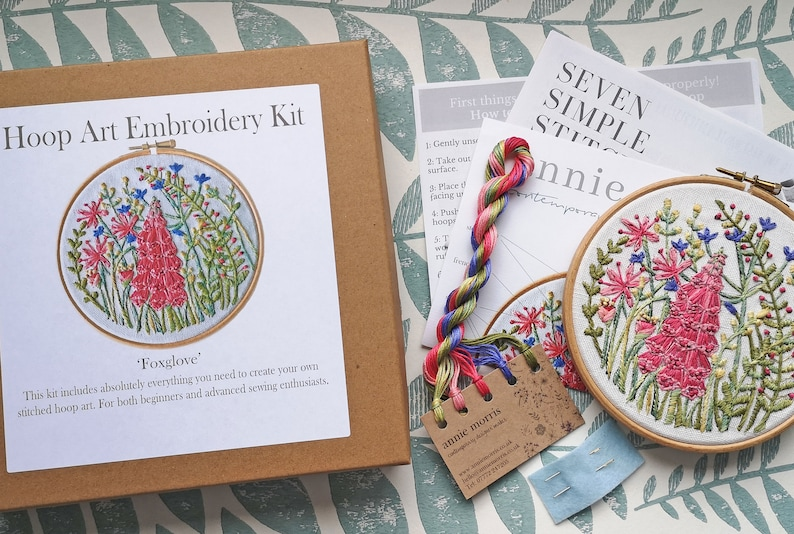 Botanical embroidery Kit