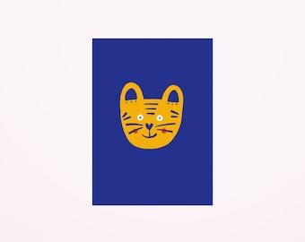 Tiger postcard A6