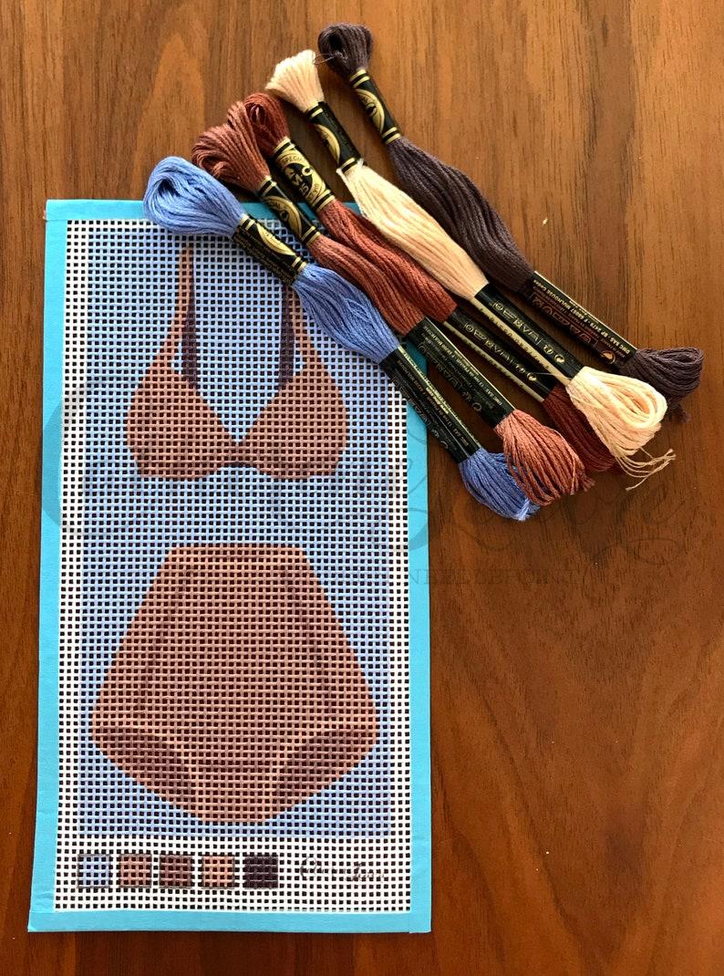 Old Fashioned Underwear Needlepoint Kit Light Brown Underwear Needlepoint Kit DIY Stitch Kit
