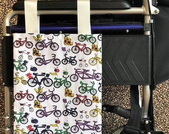 Bikelious Wheelchair Bag / Mobility Aid / Zimmer Frame (Canvas Material - Washable)