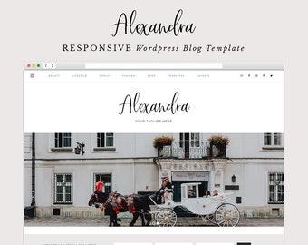 Alexandra - Responsive Wordpress Theme - Ecommerce - Genesis Child Theme - Wordpress Blog Theme –  Instant Digital Download