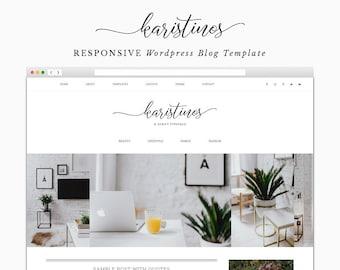 Karistinos - Responsive Wordpress Theme - Genesis Child Theme - Wordpress Blog Theme - Photography Theme – Instant Digital Download