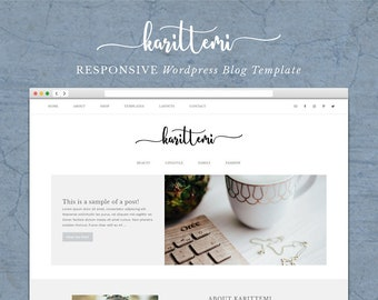 Karittemi - Responsive Wordpress Theme - Ecommerce - Genesis Child Theme - Wordpress Blog Theme –  Instant Digital Download