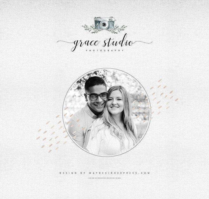 Premade Branding for Wedding Decorator Profesional Logo Beauty Logo Photography Premade Logo Design Pre-designed Logo for Photography