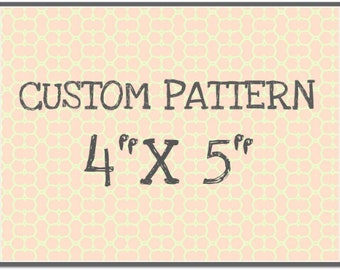 "CUST102 Rolling Mill Custom Pattern (12 dollar one-time set up fee, 7.20 pattern cost) 4"" x 5"""