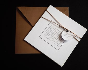 Modern Industrial Luxe Invitations