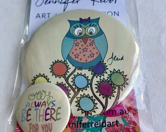 Owl Always Be There For You Button Pack