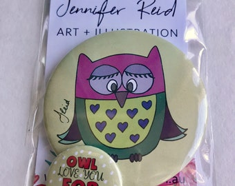 Owl Love You Forever Button Pack