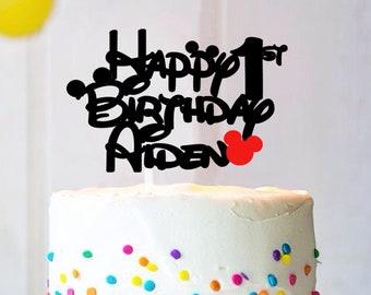 Disney Style Any Name Cake Topper   Theme Birthday Cake Topper   ANY Name Cake Topper   Customize Cake Topper