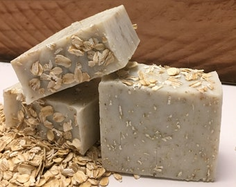 Oatmeal Soap: Handmade soap, Homemade soap, all natural, cold press