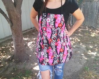 Apron/ woman's apron/ zebra stripe pink apron