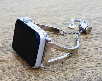 Cheri Chic Apple Watch Band 38mm, 40mm, Apple Watch Band Silver, Apple Watch Band 40mm, Watch Band for Apple Watch, Apple Watch Band 42mm