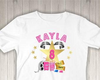8ac99a5e Movie Night, Movie Night Party, Birthday Shirt, Movie Birthday, Geeks Girls  Shirt, Birthday Party Shirt, Popcorn Shirt