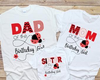 05818dc35 Ladybug Birthday, Ladybug Party, Ladybug 1st Birthday, Ladybug Matching  Shirt, Birthday Matching Set