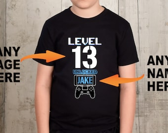 13th Birthday Boy 13 Year Old Shirt Game Gift For School