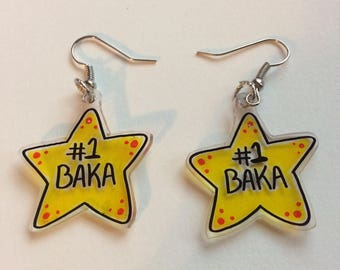 Number One Baka Earrings