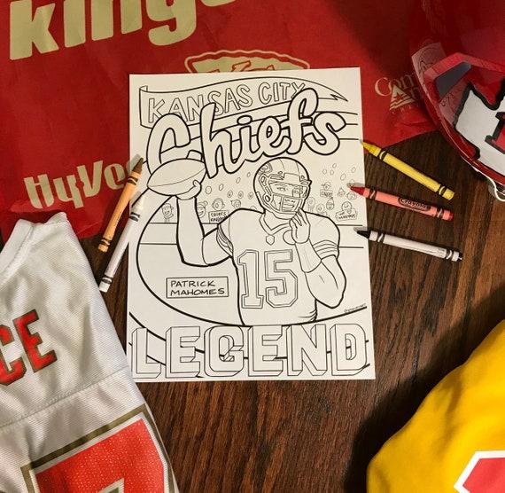 Kansas City Chiefs Mahomes Color Page Etsy