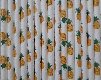 Pineapple paper straws paper straw