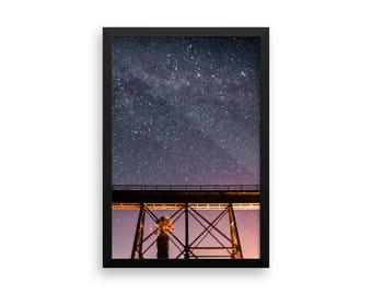 Starry Trestle Framed Photo Print