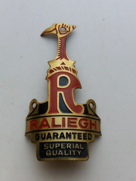 RALEIGH Head Badge Emblem For Raleigh Vintage Bicycle NOS
