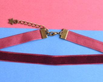 Burgundy Plain Choker - Custom, Bronze, Jewellery