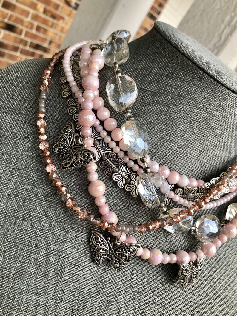 Blushing Wings Necklace