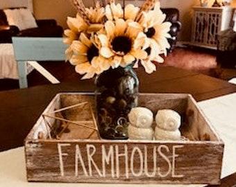 Farmhouse Box // Storage Box // Rustic Box