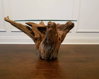 Driftwood Root Stump Table