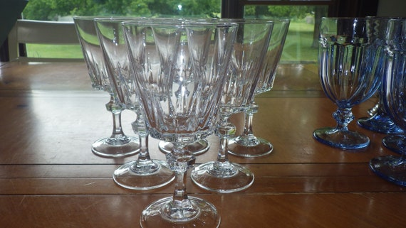 Cristal Darques France.Cut Glass Water Glasses Goblets By Cristal D Arques France Etsy