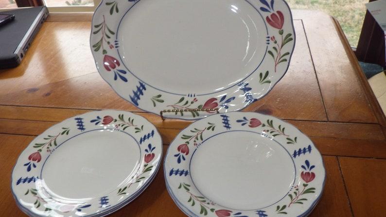 Avondale by NIKKO Salad Plates Oval Serving Platter 5 pieces EUC