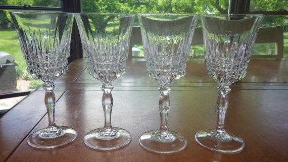 Cristal Darques France.Wine Glasses Villeneuve By Cristal D Arques France 4 6oz Etsy